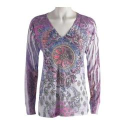 Women's Ojai Clothing Burnout L/S V-Neck Freedom
