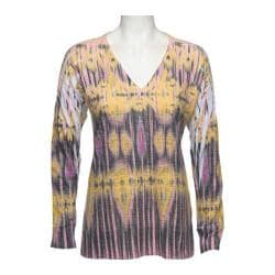 Women's Ojai Clothing Burnout L/S V-Neck Goldenrod Esclat