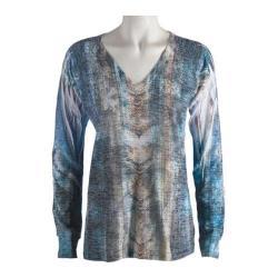 Women's Ojai Clothing Burnout L/S V-Neck Ombre Energy