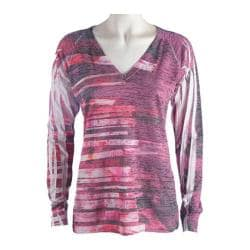 Women's Ojai Clothing Burnout L/S V-Neck Windpower