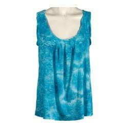 Women's Ojai Clothing Burnout Retro Tank Turquoise