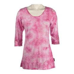Women's Ojai Clothing Burnout Scoop Neck Fuschia