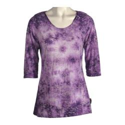 Women's Ojai Clothing Burnout Scoop Neck Orchid