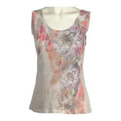 Women's Ojai Clothing Burnout Tank Coral Feathers