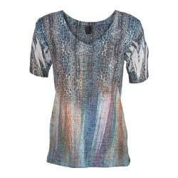 Ojai Clothing Women's Casitas Blue Jungle Lights Burnout Tee