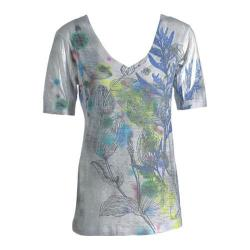 Women's Ojai Clothing Burnout Vee Citron Wildflowers