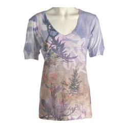 Women's Ojai Clothing Burnout Vee Nature Orchid