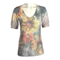 Women's Ojai Clothing Burnout Vee Sunflowers