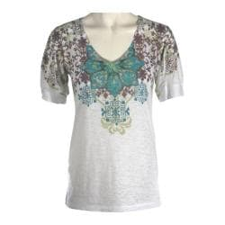 Women's Ojai Clothing Burnout Vee Turquoise Alpine