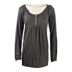 Women's Ojai Clothing Comfy Long Top Charcoal
