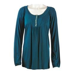 Women's Ojai Clothing Comfy Long Top Pacific Teal