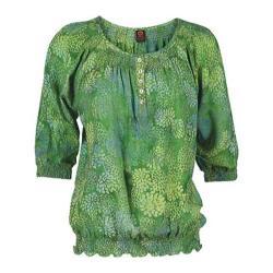Women's Ojai Clothing Easy Henley Grass