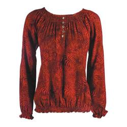 Women's Ojai Clothing Easy Henley Spicy Red