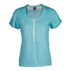 Women's Ojai Clothing Raw Edge Henley Patina