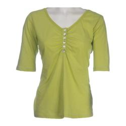 Women's Ojai Clothing Relaxed Henley Lime