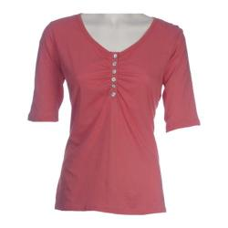 Women's Ojai Clothing Relaxed Henley Red