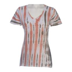 Women's Ojai Clothing Rolled V-Neck Coral