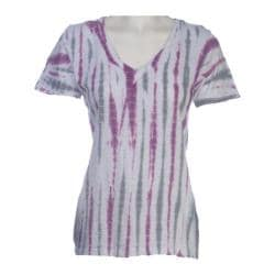 Women's Ojai Clothing Rolled V-Neck Purpleberry