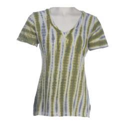 Women's Ojai Clothing Rolled V-Neck Sage