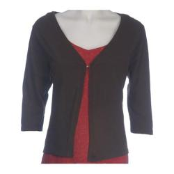 Women's Ojai Clothing Slub Cardigan Espresso