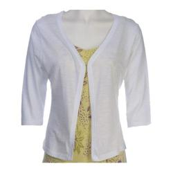 Women's Ojai Clothing Slub Cardigan White