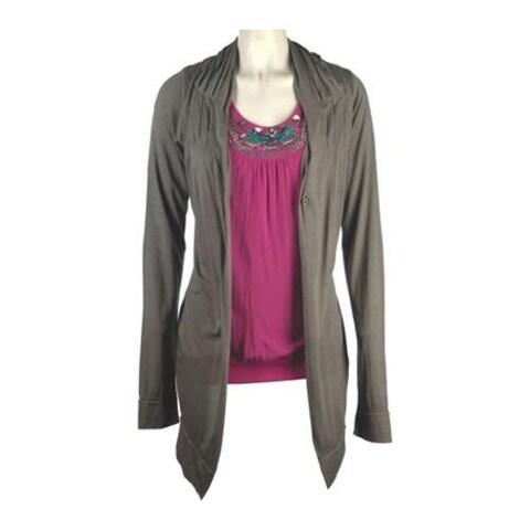 Women's Ojai Clothing Travel Wrap with Pockets Dove Grey