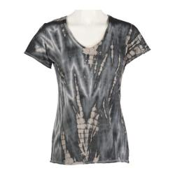 Women's Ojai Clothing Tie Dye V-Neck Dove Grey