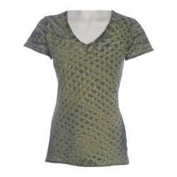 Women's Ojai Clothing Tie Dye V-Neck Olive
