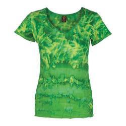 Women's Ojai Clothing Tie Dye V-Neck Grass