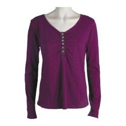 Women's Ojai Clothing Tipped Henley Boysenberry