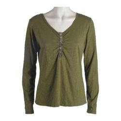 Women's Ojai Clothing Tipped Henley Chive (4 options available)