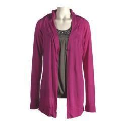 Women's Ojai Clothing Travel Wrap with Pockets Fuschia