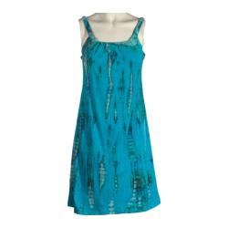 Women's Ojai Clothing Tribal Tank Dress Turquoise Blue