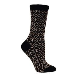 Women's Ozone Chevron Crew Sock (2 Pairs) Black