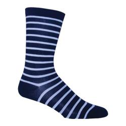 Men's Ozone Classic Stripe Crew Sock (2 Pairs) Navy