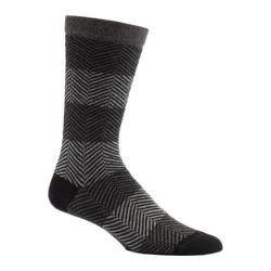 Men's Ozone Herringbone Mirror Crew Socks (2 Pairs) Black