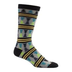 Men's Ozone Moore Stripes Crew Socks (2 Pairs) Black