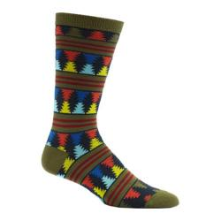 Men's Ozone Moore Stripes Crew Socks (2 Pairs) Fougere