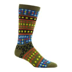 Men's Ozone Moroccan Stars Crew Socks (2 Pairs) Fougere