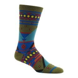 Men's Ozone Seljuk Triangles Crew Socks (2 Pairs) Fougere