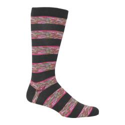 Men's Ozone Space Dye Stripe Crew Sock (2 Pairs) Grey