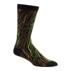 Men's Ozone Stripy Camo Crew Socks (2 Pairs) Black