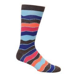 Men's Ozone Wavy Stripes Crew Sock (2 Pairs) Blue
