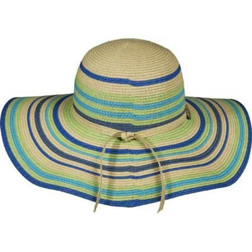 76737337355 ... Thumbnail Women  x27 s Panama Jack Striped Paper Braid Sun Hat Turquoise