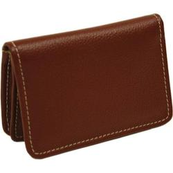 Piel Leather Business Card/ID Case 9061 Red Leather