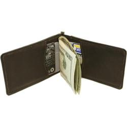 Men's Piel Leather Money Clip 2633 Chocolate Leather