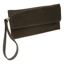 Piel Leather Travel Wallet 2855 Chocolate Leather