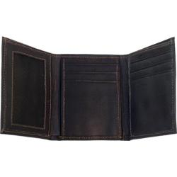 Men's Piel Leather Trifold Wallet 9053 Chocolate Leather