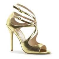 Women's Pleaser Amuse 15 Gold Metallic PU