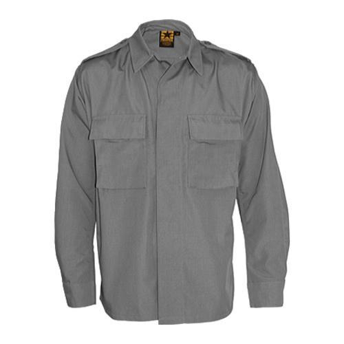 Men S Propper Bdu 2 Pocket Shirt Long Sleeve 65p 35c Grey Free Shipping On Orders Over 45